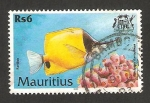 Sellos del Mundo : Africa : Mauricio : pez pavillon
