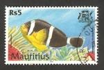 Sellos del Mundo : Africa : Mauricio : pez debouetteur