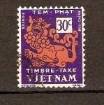 Sellos de Asia - Vietnam -  TEMPLO   DEL   LEÓN