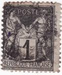 Sellos del Mundo : Europa : Francia : PAZ Y COMERCIO