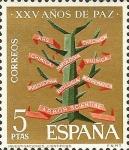 Sellos del Mundo : Europa : España : XXXV año de paz española