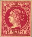 Sellos de Europa - España -  ESPAÑA 1860-1 53 Sello Nuevo Isabel II 6c