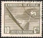 Sellos de America - Chile -  LINEA AEREA NACIONAL - CAMPANARIO
