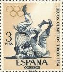 Sellos de Europa - España -  juegos olimpicos de innsbruck y tokio.