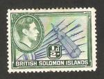 Sellos del Mundo : Oceania : Islas_Salomón : 58 - George VI, lanzas