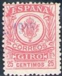 Sellos del Mundo : Europa : España : ESPAÑA 1920 Sello º Correos Giro 25c Spain Espagne Spagna Spanje Spanien