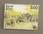Sellos del Mundo : Asia : Sri_Lanka : Elefante Elephas maximus ceylonensis