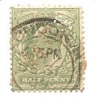 Sellos de Europa - Reino Unido -  correo terrestre con perforaciones