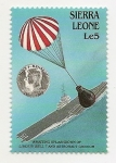 Sellos del Mundo : Africa : Sierra_Leona : Awaiting Splashdown of Liberty Bell......