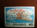 Sellos del Mundo : America : Bahamas : Anatomia de un Huracan