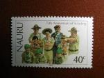 Sellos del Mundo : Oceania : Naurú : 75th anniversary of scouting