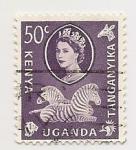 Sellos de Africa - Uganda -  Elisabet II