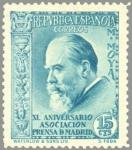 Sellos de Europa - España -  ESPAÑA 1935 699 Sello Nuevo XL Aniversario Asociación de la Prensa Miguel Moya