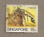 Sellos del Mundo : Asia : Singapur : avispa alfarera