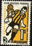 Sellos del Mundo : America : Uruguay : Club Atletico Peñarol Campeon intercontinental 1966