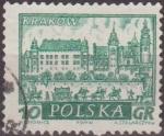 Sellos de Europa - Polonia -  Polonia 1960 Scott 948 Sello Ciudades Historicas Krakow Crakovia Usado Polska Poland Polen Pologne
