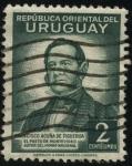 Sellos del Mundo : America : Uruguay : Francisco Acuña de Figueroa autor del Himno Nacional Uruguayo.
