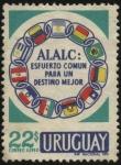 Sellos del Mundo : America : Uruguay : Asociación Latinoamericana de Libre Comercio.