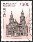 Sellos de America - Chile -  CATEDRAL DE SANTIAGO - MONUMENTOS NACIONALES