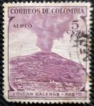 Sellos de America - Colombia -  Volcan Galeras. Pasto - Colombia