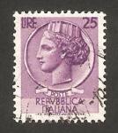 Sellos de Europa - Italia -  moneda siracusana