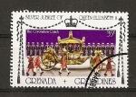 Sellos del Mundo : America : Granada : 25 Aniversario de la Coronacion de Isabel II de Inglaterra.