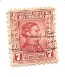 Sellos de America - Uruguay -  correo terrestre