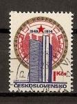 Sellos de Europa - Checoslovaquia -  25 Aniversario de la fundacion del COMECON
