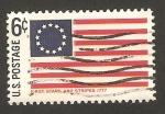 Sellos del Mundo : America : Estados_Unidos : primera bandera nacional en 1777