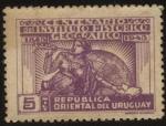 Sellos del Mundo : America : Uruguay : 100 años del Instituto Histórico Geográfico del Uruguay.