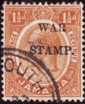 Sellos del Mundo : America : Jamaica : Jorge V (war stamp)