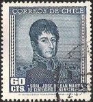 Sellos de America - Chile -  GENERAL JOSE DE SAN MARTIN - PRIMER CENTENARIO DE SU MUERTE