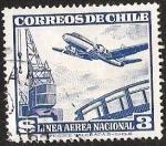 Sellos de America - Chile -  LINEA AEREA NACIONAL - GRUA