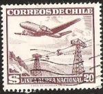 Sellos de America - Chile -  LINEA AEREA NACIONAL - TELESFERICO