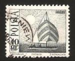 Sellos de Europa - Polonia -  1557 - Velero sobre el lago Mazurie