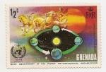 Sellos de America - Granada -  100° Aniversario de la Organización Mundial de Meteorologia