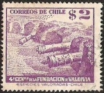 Sellos de America - Chile -  4° CENTENARIO FUNDACION DE VALDIVIA