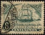 Sellos de America - Uruguay -  Barco a vela