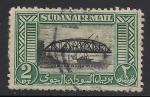 Sellos del Mundo : Africa : Sudán : Puente sobre el Nilo Azul, Jartum.