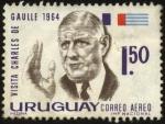 Sellos del Mundo : America : Uruguay : Visita del presidente de Francia Charles De Gaulle a Uruguay en el año 1964.