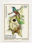 Sellos de Africa - Rwanda -  Pájaros
