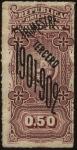 Sellos de America - Uruguay -  Timbre impuesto 3er. semestre de 1901- 1902.