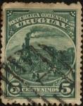 Sellos del Mundo : America : Uruguay : La primer Locomotora de Uruguay del año 1861.