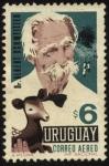 Sellos de America - Uruguay -  Albert Schweitzer 1875 - 1965. Médico, filósofo, teólogo protestante, músico. Premio Nobel de l