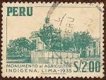 Sellos del Mundo : America : Perú : Monumento al Agricultor Indígena, Lima - 1935