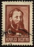 Sellos del Mundo : America : Argentina : José Hernández. 1834 – 1886. Periodista, político y escritor autor de los libros del Martín Fierro.