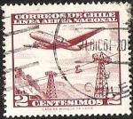 Sellos de America - Chile -  LINEA AEREA NACIONAL - TELEFERICO