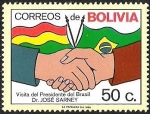 Sellos del Mundo : America : Bolivia : VISITA DEL PRESIDENTE DE BRASIL DR: JOSE SARNEY