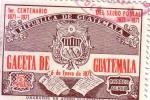 Sellos del Mundo : America : Guatemala : Escudo de armas y periódico