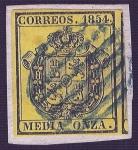Sellos del Mundo : Europa : España : Escudo de España. - Edifil 28